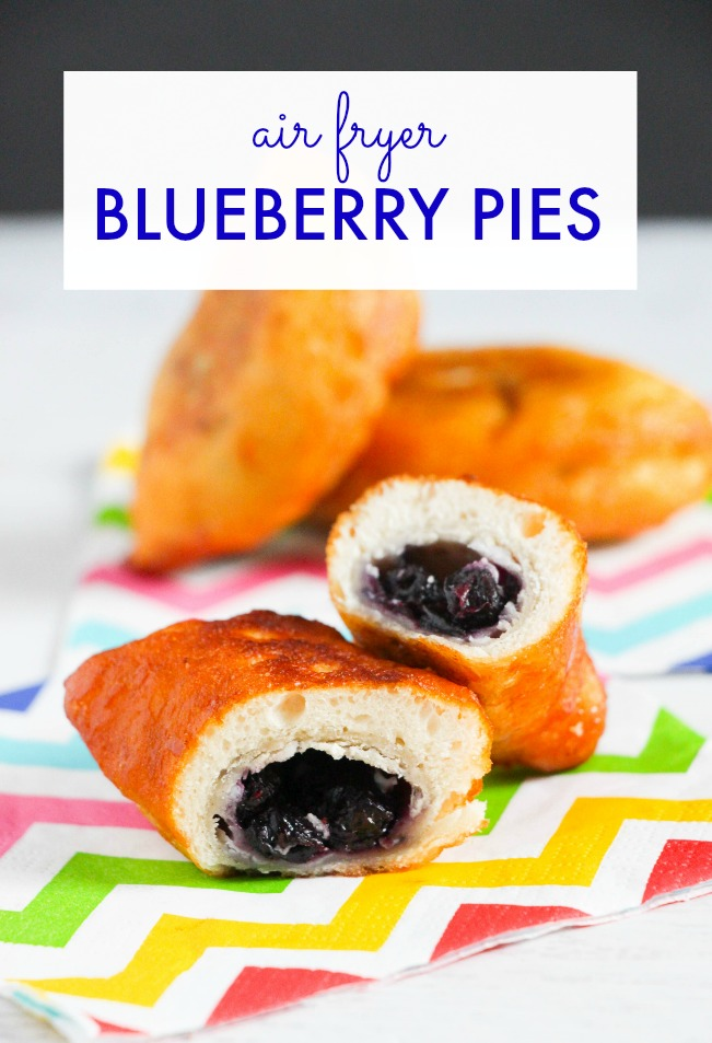 air fryer blueberry pies