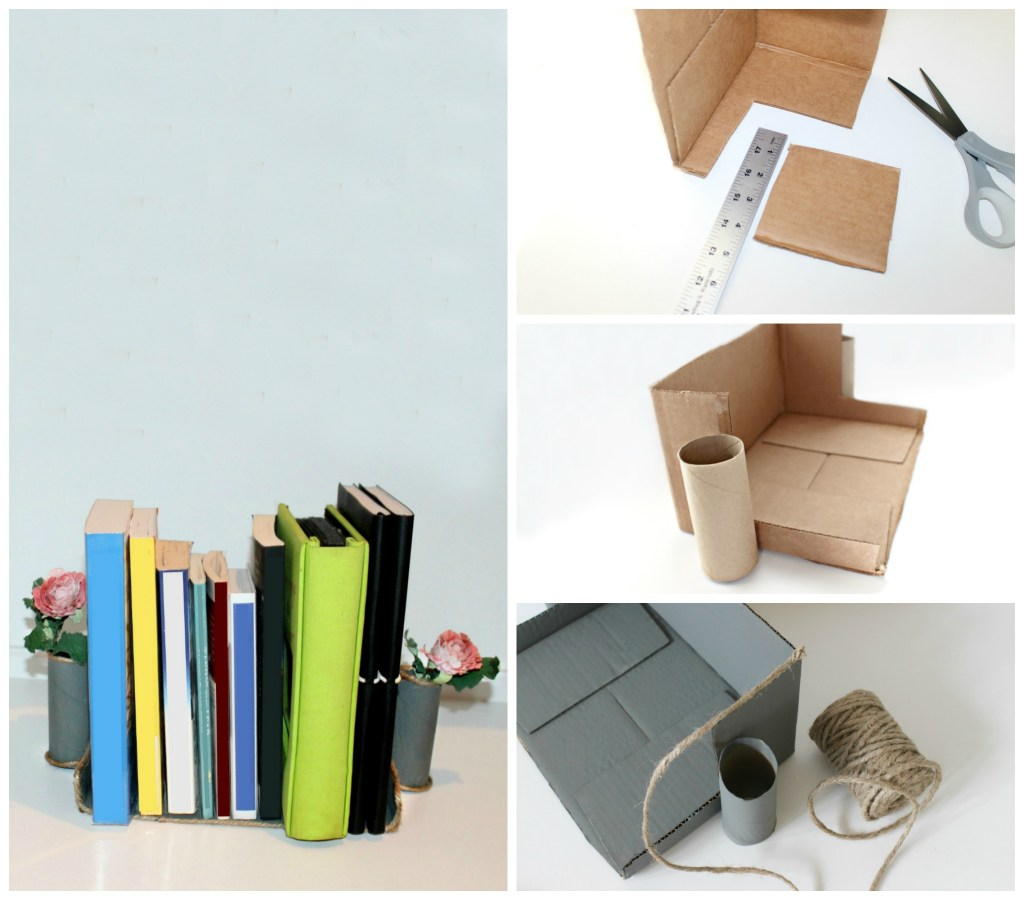 cardboard bookends craft
