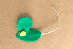 Felt and Twine Mouse Cat Toy
