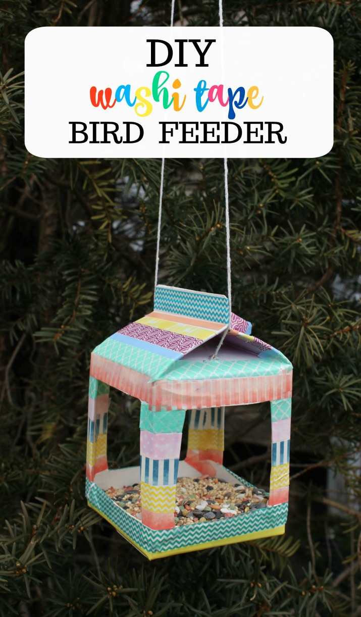 washi tape birdhouse craft