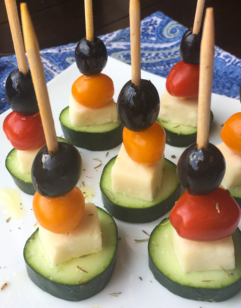 greek salad skewers appetizer recipe