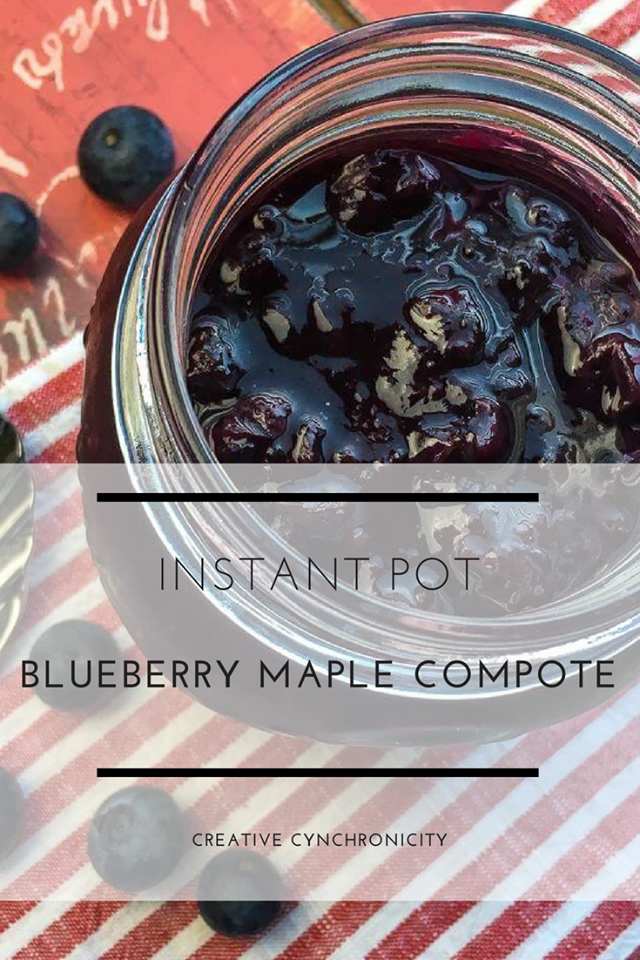instant pot blueberry maple compote recipe