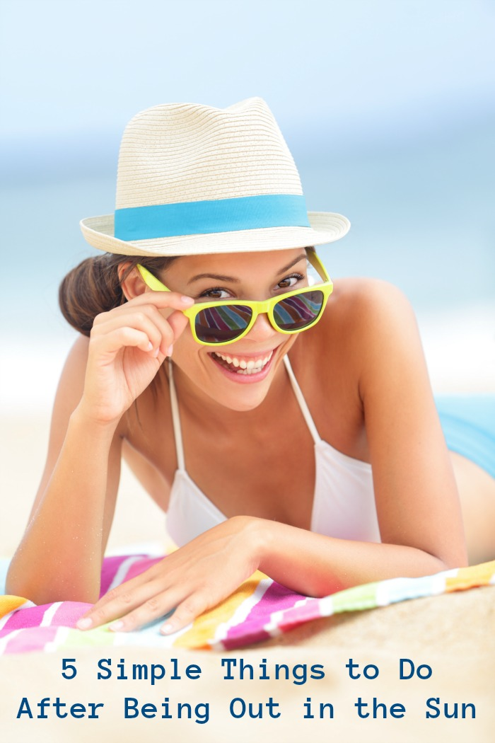 5 Simple Things to do After Being Out in the Sun