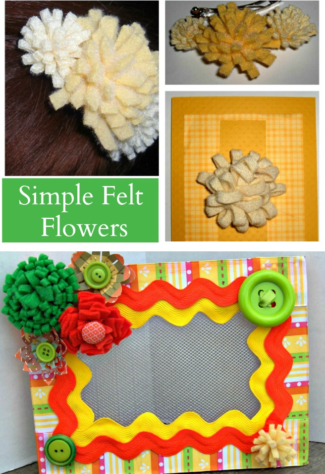 Quick And Easy Felt Flower Jewelry Creative Cynchronicity
