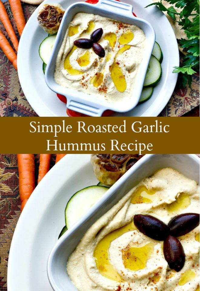 simple Roasted Garlic Hummus Recipe