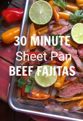 30 Minute Sheet Pan Beef Fajitas