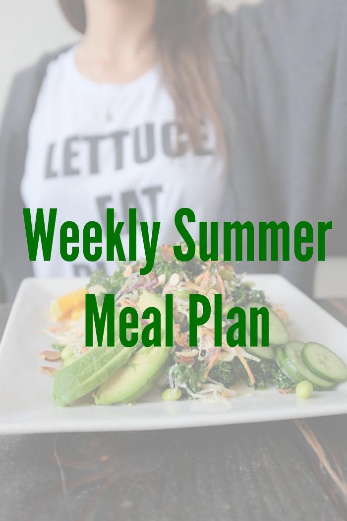 weekly summer menu plan