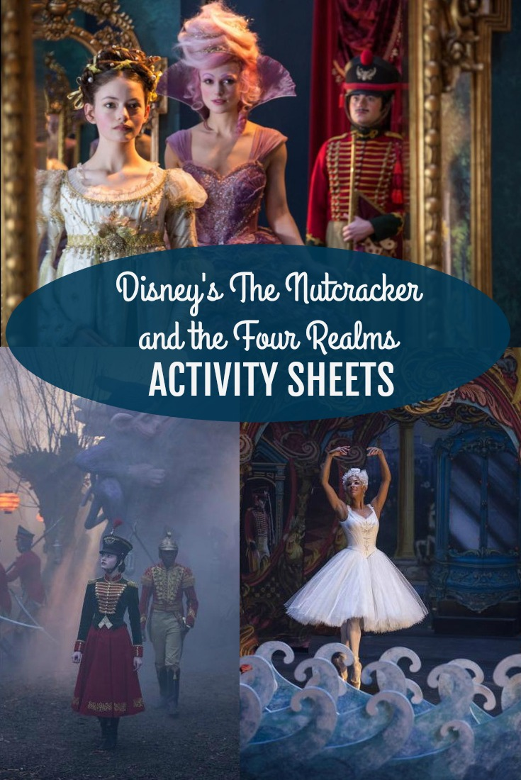 Disney's The Nutcracker and the Four Realms Activity Sheets
