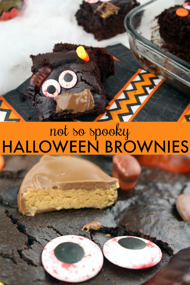 not so spooky halloween brownies