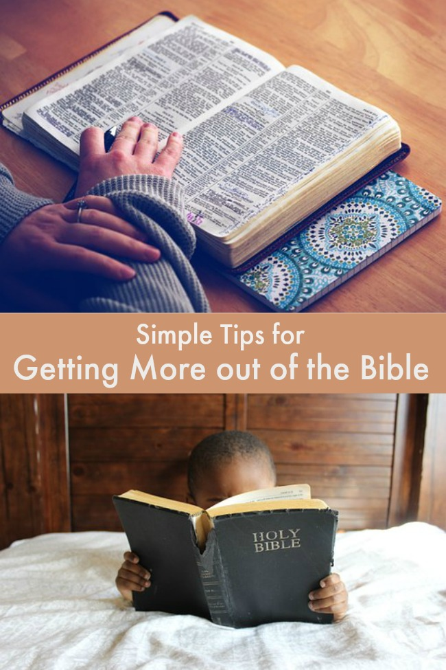 simple tips for getting more out of the bible
