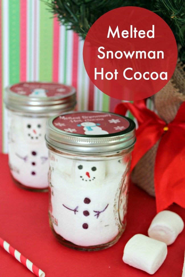 Melted Snowman Hot Cocoa DIY Gift Idea