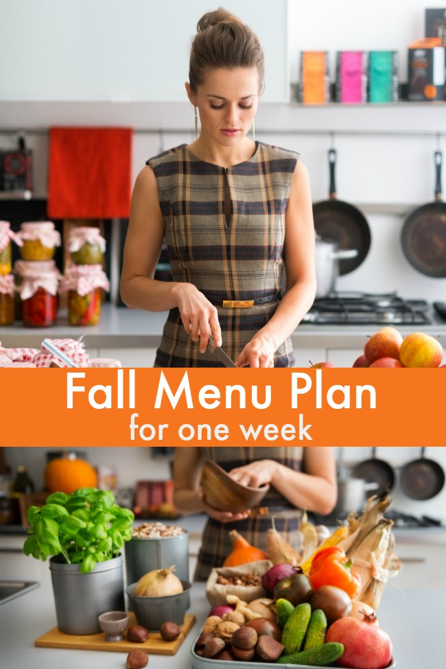 autumn menu plan