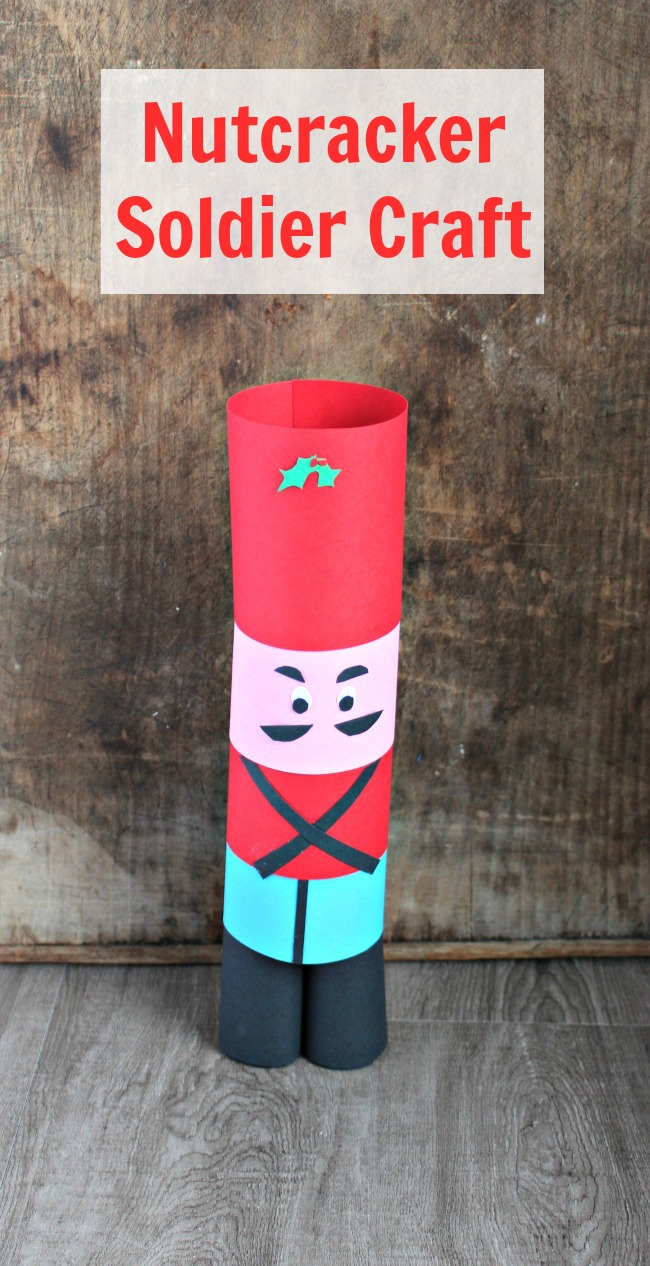 finished paper nutcracker soldier craft idea