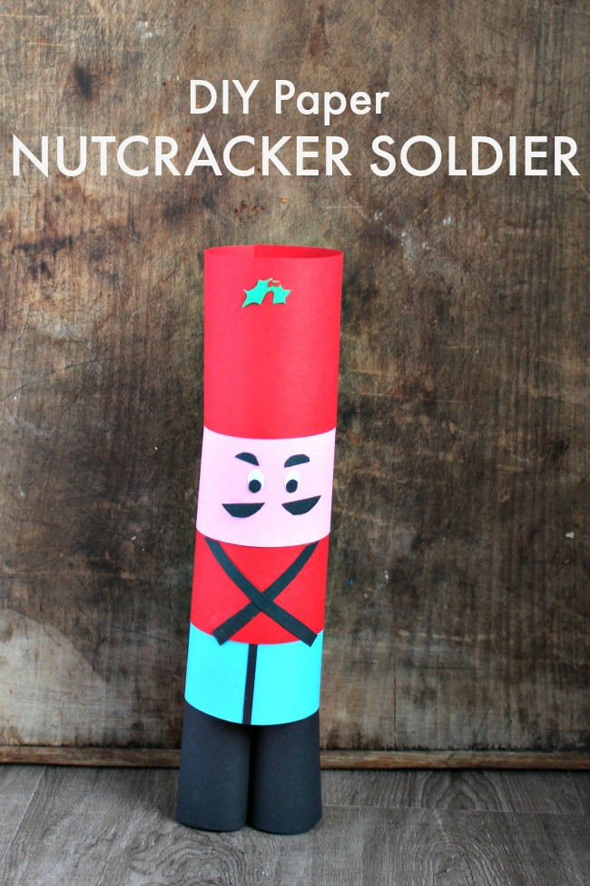 make this diy paper nutcracker soldier craft for kids for under 50 cents