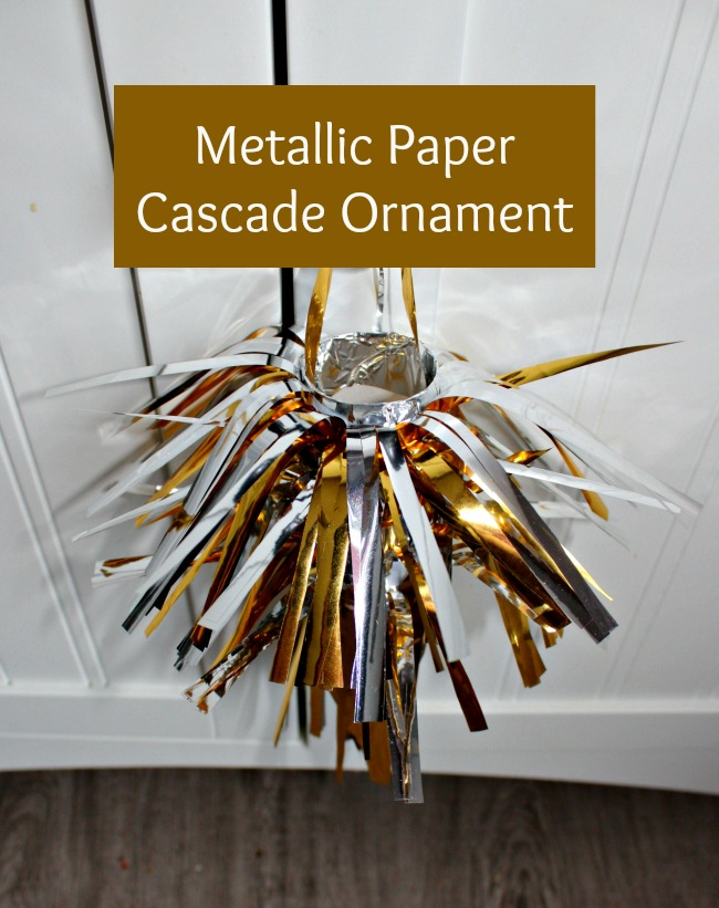 metallic paper cascade ornament
