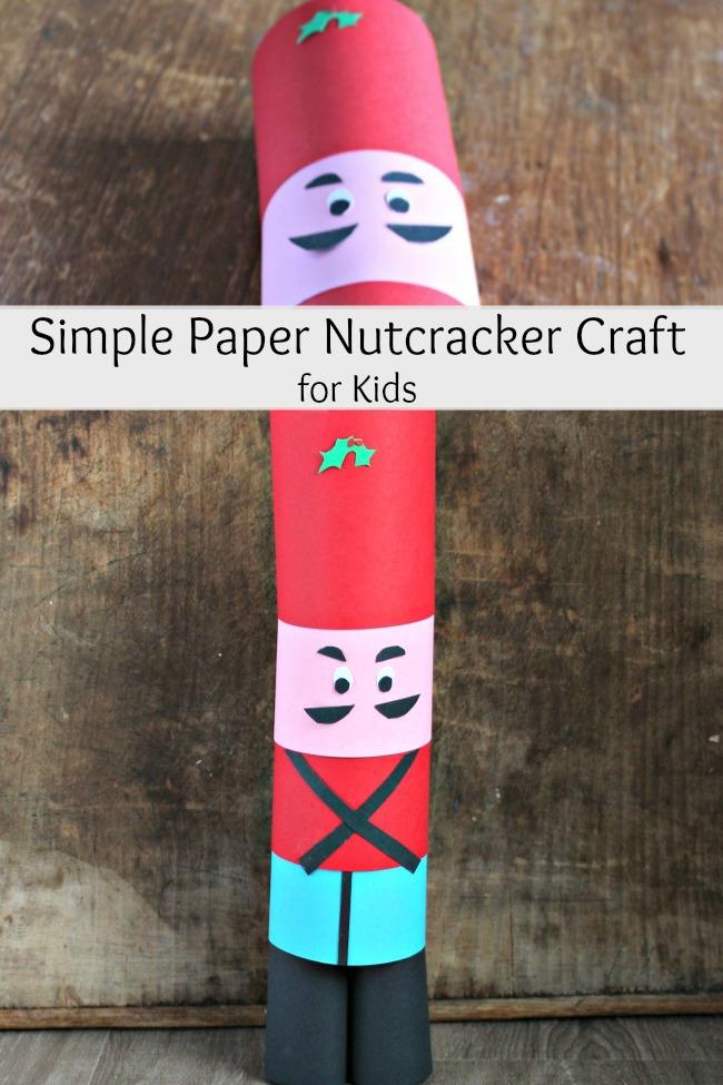 simple paper nutcracker craft for kids