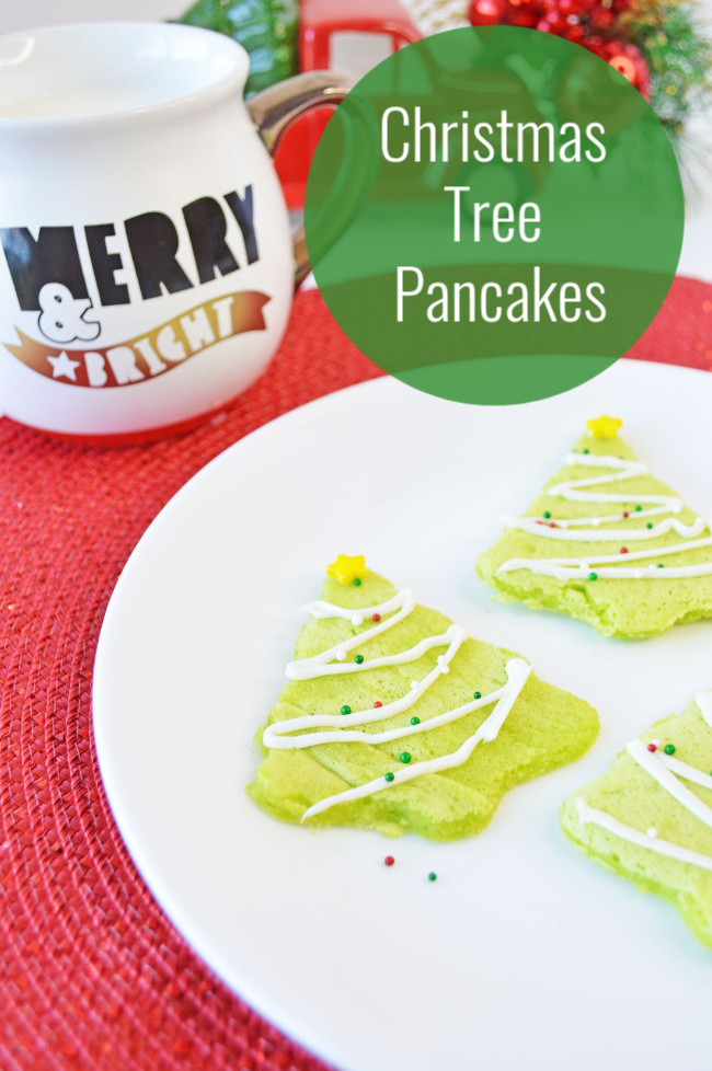how to make christmas tree pancakes
