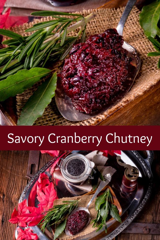 savory cranberry chutney