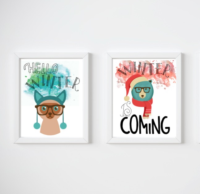 free winter printables