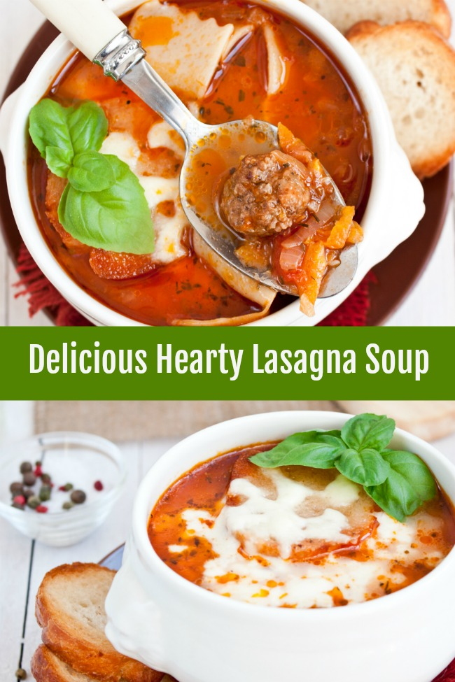 hearty and delicious lasagna soup