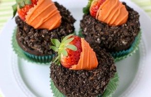Carrot Patch Cupcakes for Spring
