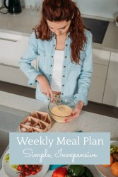 simple inexpensive weekly meal plan