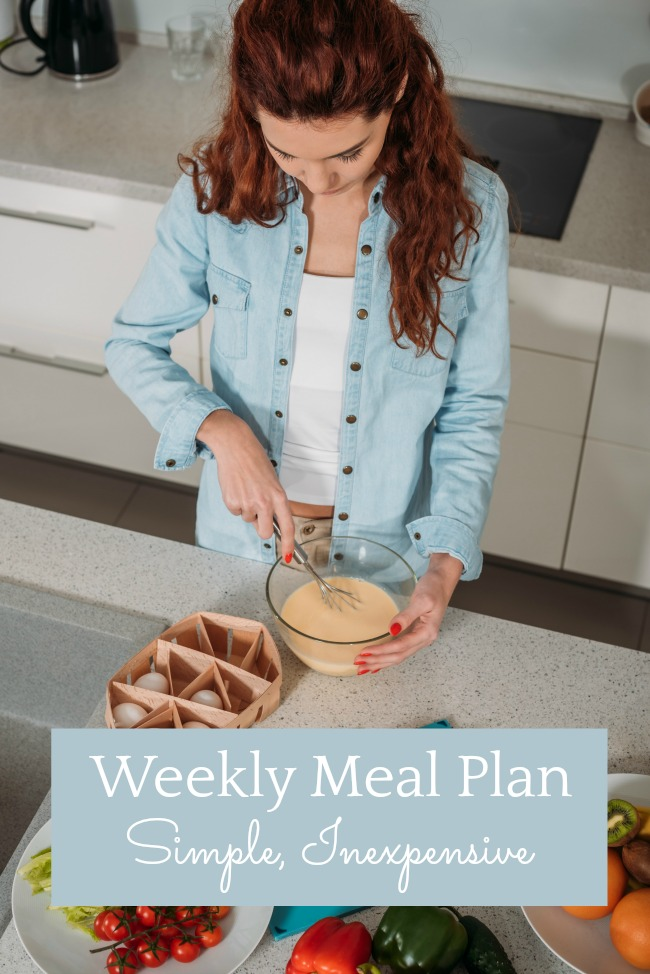 simple inexpensive weekly meal plan