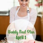 Weekly Meal for Plan April 1