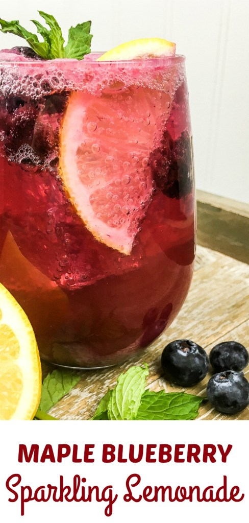 maple blueberry sparkling lemonade