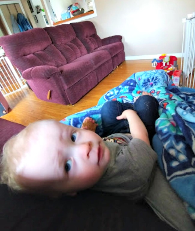 Toddler in a recliner