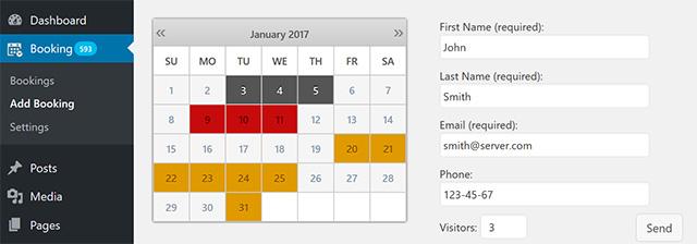 Booking Calendar WordPress plugin