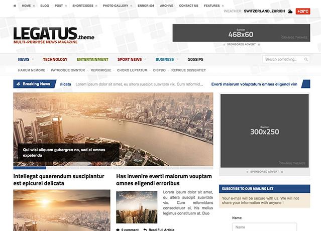 Legatus - Responsive News Magazine Theme