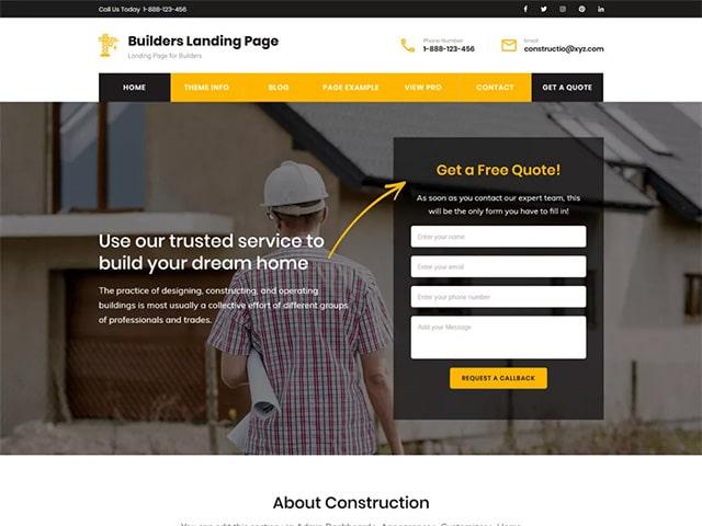 Builders Landing Page