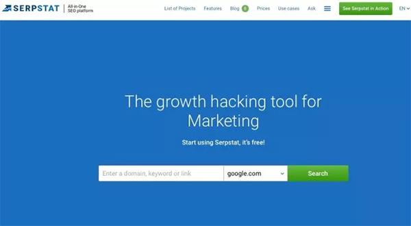 SERPSTAT keyword tool