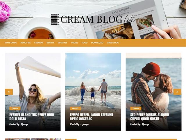 Cream Blog Lite