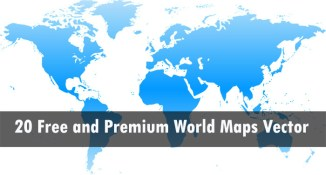 20 Free and Premium World Maps Vector