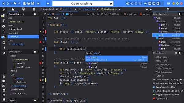 Komodo Edit CSS editor