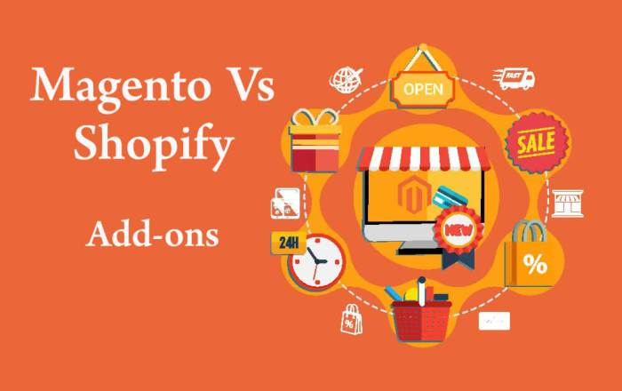Magento Vs Shopify Add-ons