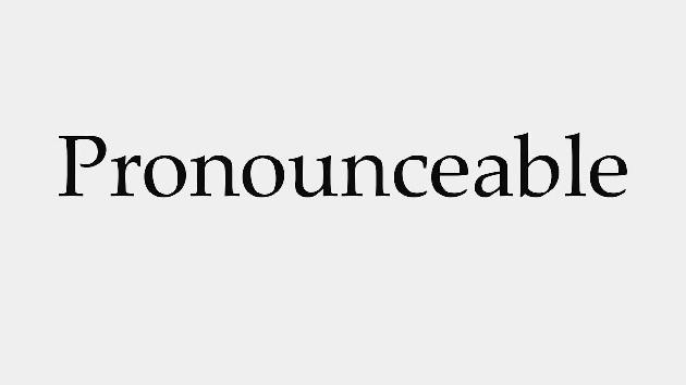 pronounceable