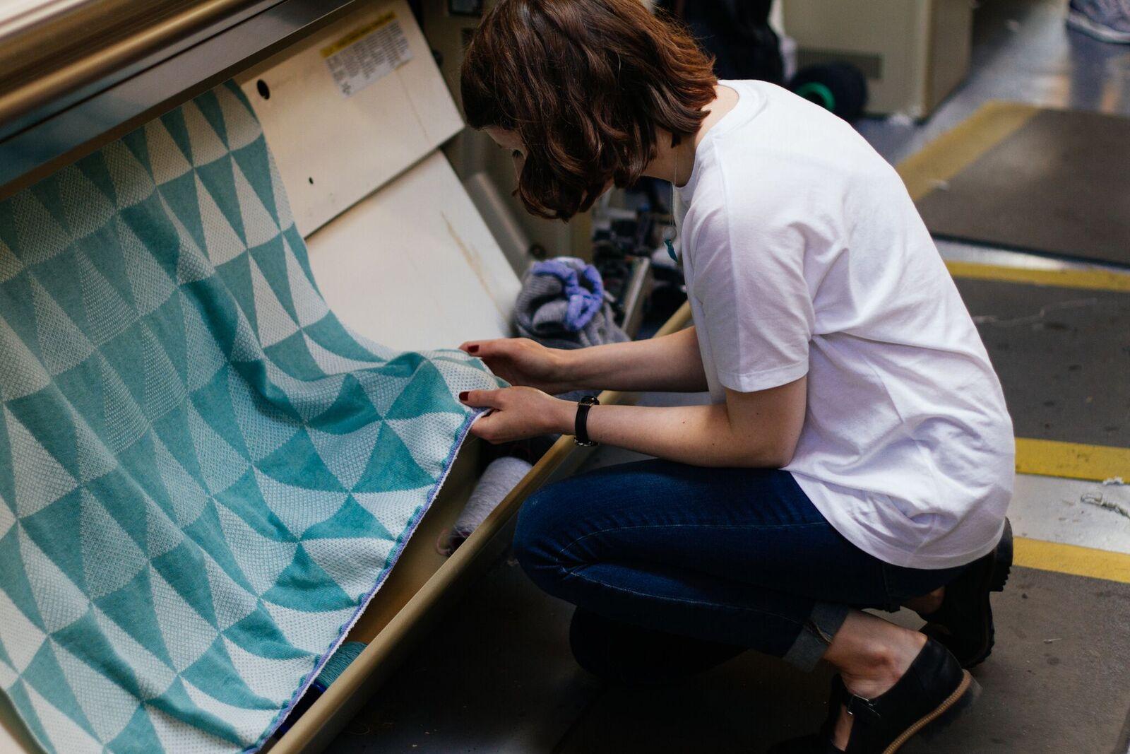 Hilary Grant in her Orkney based studio