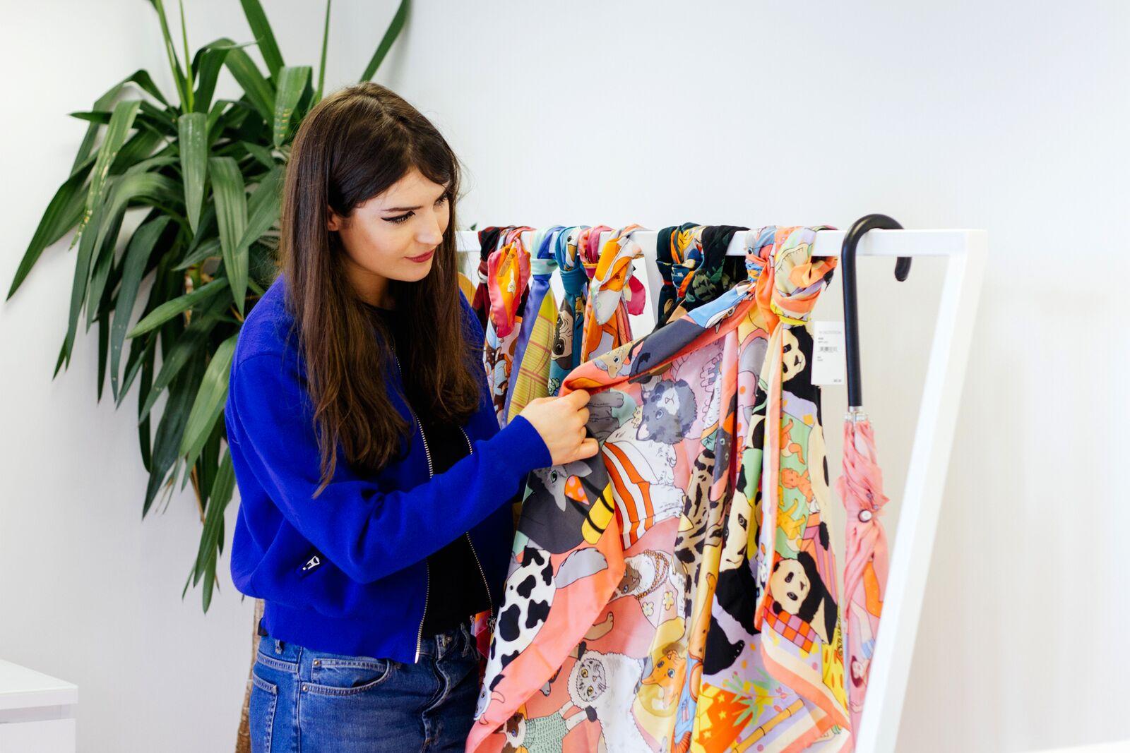 Karen Mabon in her studio