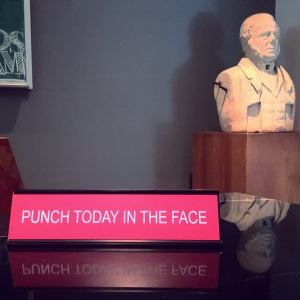 Punch Today In The Face Desk Plate