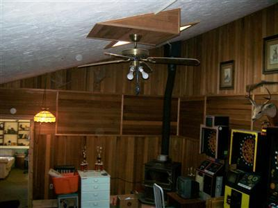 This one was titled 'Wood paneling with wood paneling accents'
