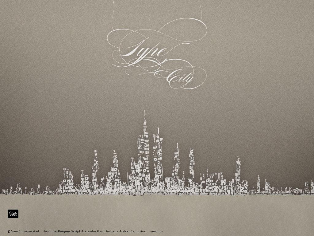 Type City Skyline
