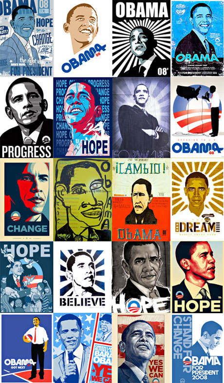 Obama designs are everywhere and they are pretty great.