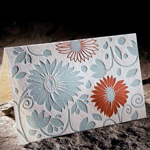 delft. letterpress note cards, bamboo paper by Smock Letterpress