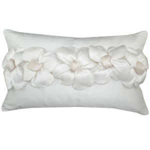 Ribbon of Flowers pillow by Elle & Evans