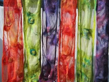 6 nuno summer scarves on tissue silk