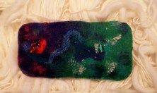 Green and purple glasses case