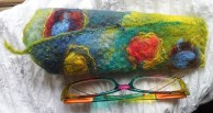 Glasses case multi coloured - front view